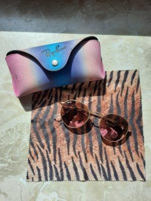 Rayban Round Sunglasses apricot-sand brown