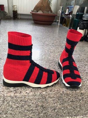 Stylisher High-Top Socken-Sneaker von Fendi, Gr. 38
