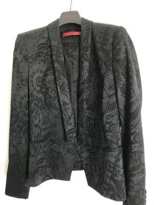 stylisher HUGO Blazer, Jacquard schwarz, selten getragen, Gr. 36