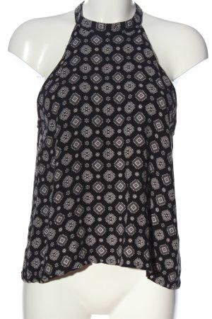 Subdued Blusa senza maniche nero-grigio chiaro stampa integrale stile casual