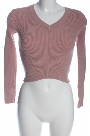 Subdued Cropped Pullover pink Casual-Look