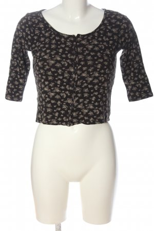 Subdued Cropped Shirt abstraktes Muster Casual-Look
