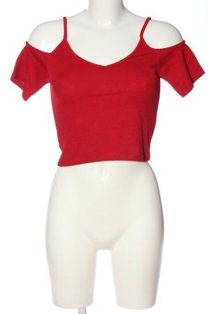 Subdued Top corto rosso stile casual