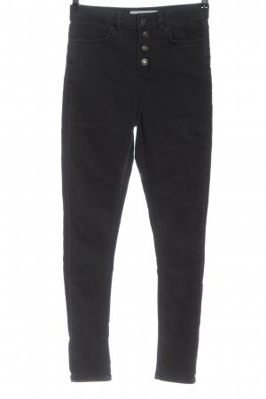 Subdued High Waist Jeans schwarz Casual-Look