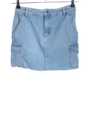 Subdued Gonna di jeans blu stile casual