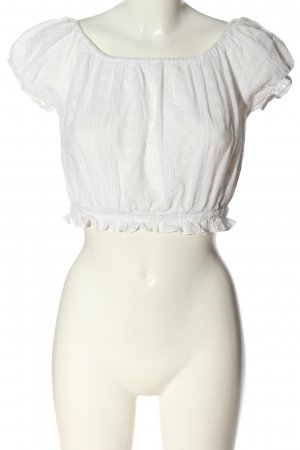 Subdued Camicetta a maniche corte bianco stile casual