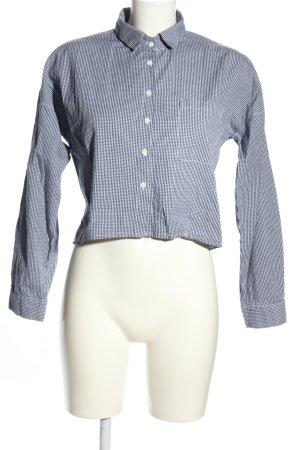 Subdued Langarmhemd schwarz-weiß Karomuster Casual-Look