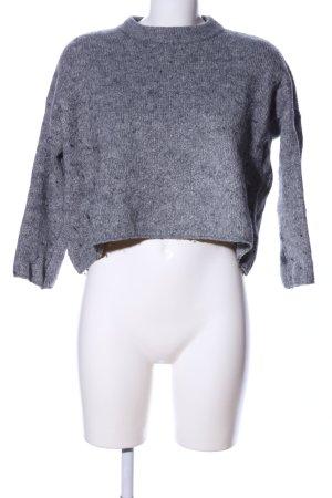 Subdued Maglione oversize grigio chiaro puntinato stile casual