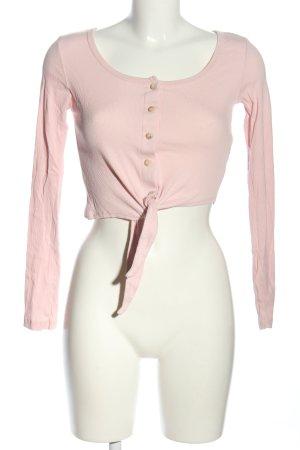 Subdued Chemise côtelée rose style décontracté