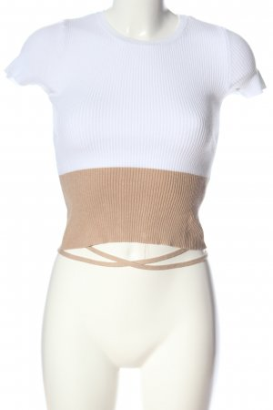 Subdued Rippshirt weiß-nude Casual-Look