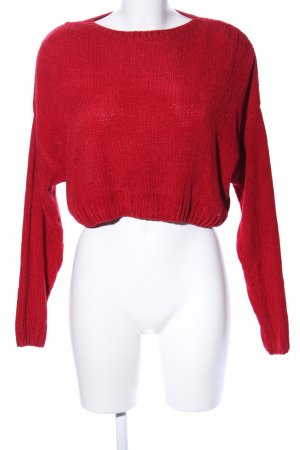 Subdued Rundhalspullover rot Casual-Look