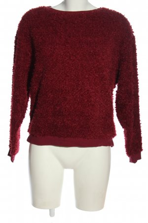 Subdued Rundhalspullover rot meliert Casual-Look