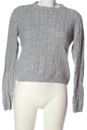 Subdued Maglione girocollo grigio chiaro puntinato stile casual