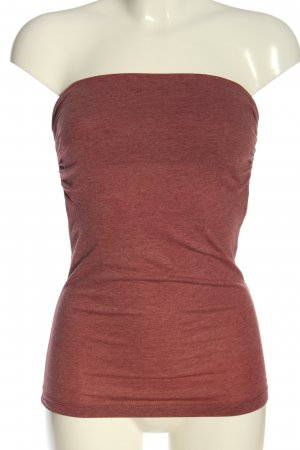 Subdued schulterfreies Top rot meliert Casual-Look