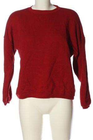 Subdued Felpa rosso stile casual