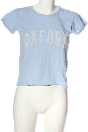 Subdued T-Shirt blau Schriftzug gedruckt Casual-Look