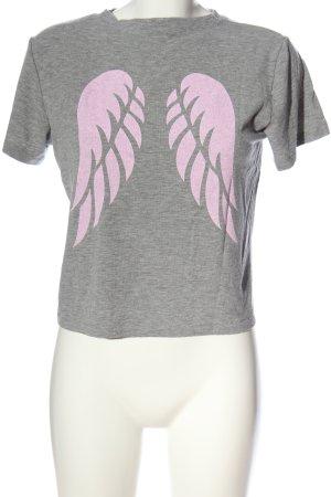 Subdued T-Shirt hellgrau meliert Casual-Look