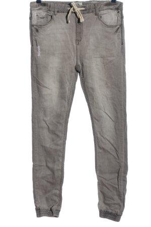 Sublevel Workowate jeansy jasnoszary Tkanina z mieszanych włókien