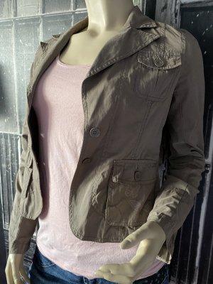 Sublevel Korte blazer grijs-bruin