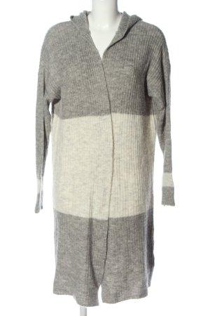 Sublevel Cárdigan gris claro-blanco puro moteado look casual