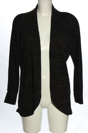 Sublevel Cardigan schwarz meliert Casual-Look