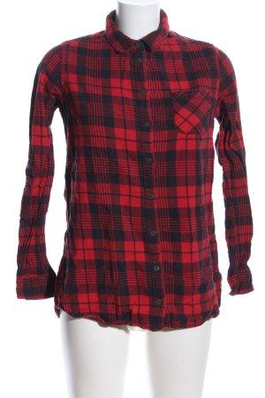 Sublevel Holzfällerhemd rot-schwarz Karomuster Casual-Look