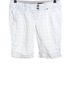 Sublevel Spodnie Capri biały-jasnoszary Wzór w kratkę W stylu casual