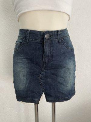 Sublevel Jupe en jeans noir-bleu foncé