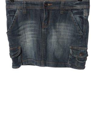 Sublevel Jupe en jeans bleu style décontracté