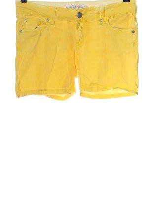 Sublevel Short en jean jaune primevère style décontracté