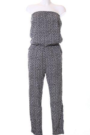 Sublevel Jumpsuit schwarz-weiß grafisches Muster Casual-Look