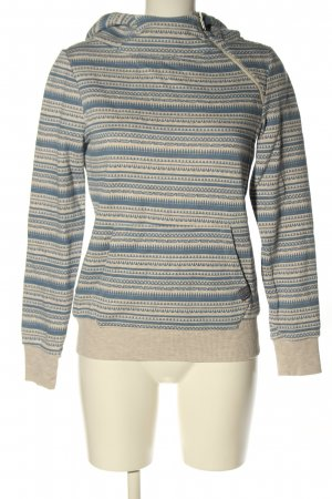 Sublevel Kapuzensweatshirt wollweiß-blau Allover-Druck Casual-Look