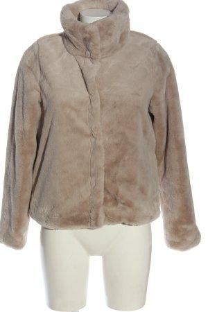 Sublevel Giacca in eco pelliccia marrone puntinato stile casual