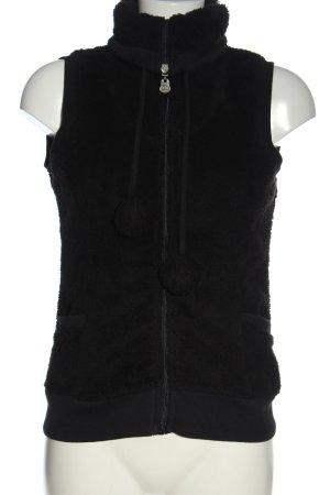 Sublevel Kamizelka ze sztucznym futrem czarny W stylu casual