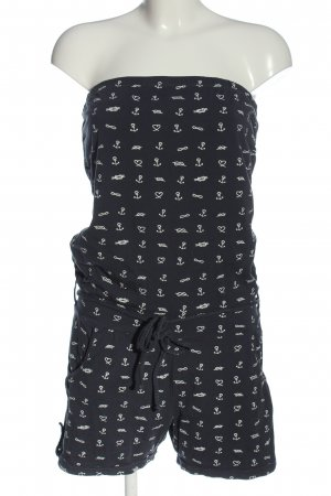 Sublevel Kurzer Jumpsuit black-white allover print casual look