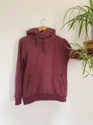 Sublevel Jersey con capucha rojo zarzamora-violeta amarronado