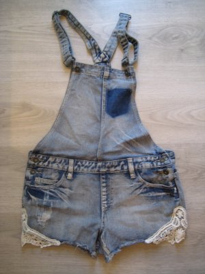 Sublevel Dungarees slate-gray-azure cotton