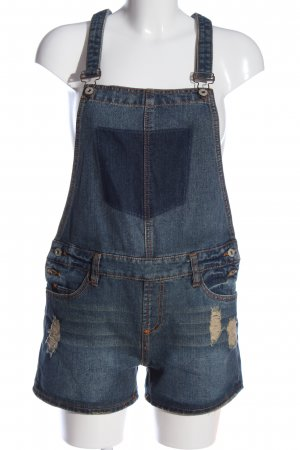Sublevel Pantaloncino con bretelle blu stile casual