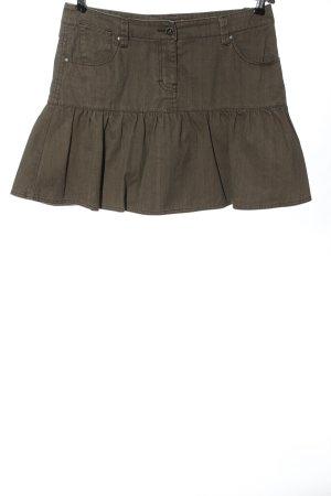 Sublevel Minifalda marrón-blanco puro moteado look casual