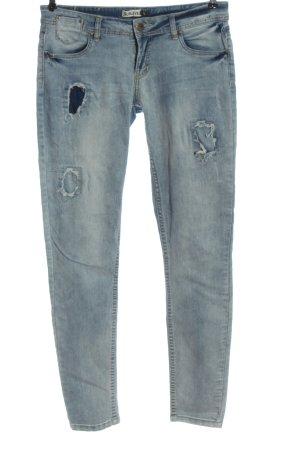 Sublevel Jeans cigarette bleu style décontracté