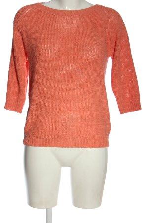 Sublevel Maglione girocollo arancione chiaro stile casual