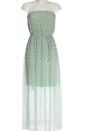 Sublevel Off-The-Shoulder Dress turquoise-natural white allover print elegant