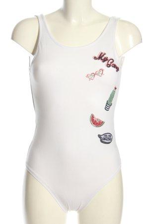 Sublevel Shirtbody wit prints met een thema casual uitstraling