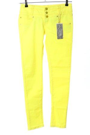 Sublevel Slim Jeans blassgelb Casual-Look