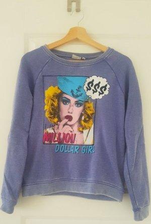 Sublevel Statement Sweater blau Gr S