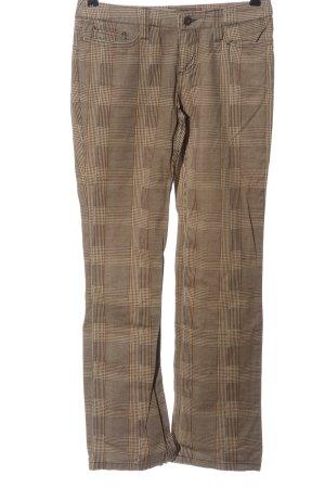 Sublevel Pantalone jersey marrone motivo a quadri stile casual