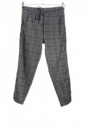 Sublevel Jersey Pants black-white check pattern casual look