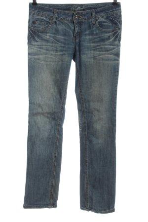 Sublevel Jeans coupe-droite bleu style décontracté