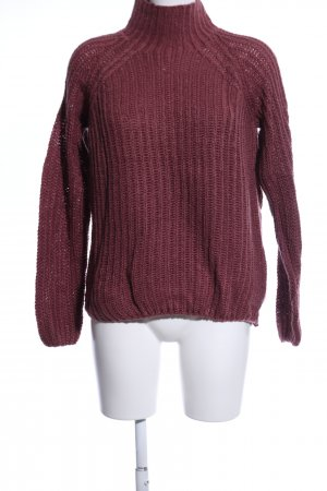 Sublevel Strickpullover rot Zopfmuster Casual-Look