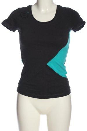 Sublevel Strickshirt schwarz-blau Casual-Look
